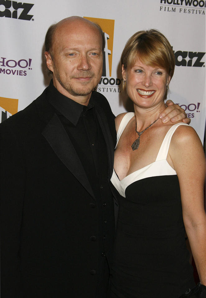 "<a href=""http://movies.yahoo.com/movie/contributor/1800232257"">Paul Haggis</a> and wife at the 12th Annual Hollywood Film Festival Awards Gala in Beverly Hills - 10/27/2008"
