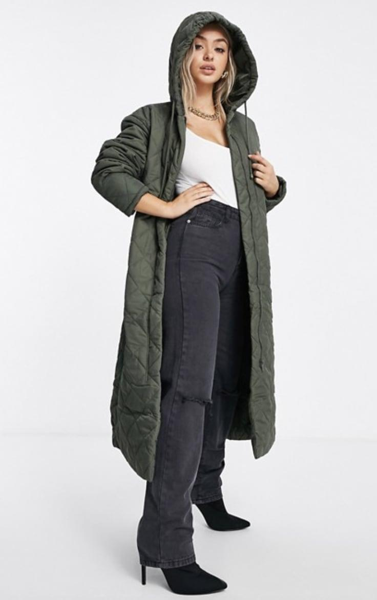 <p><span>Missguided Diamond Quilted Hooded Coat</span> ($95)</p>