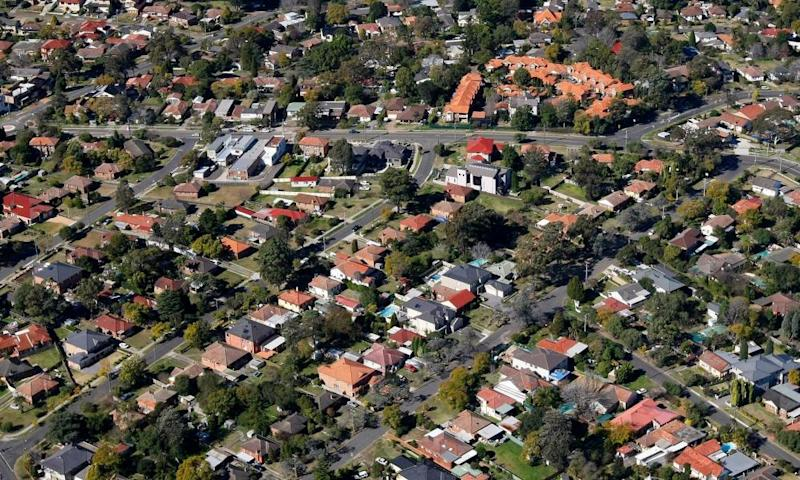 Houses in a western Sydney suburb