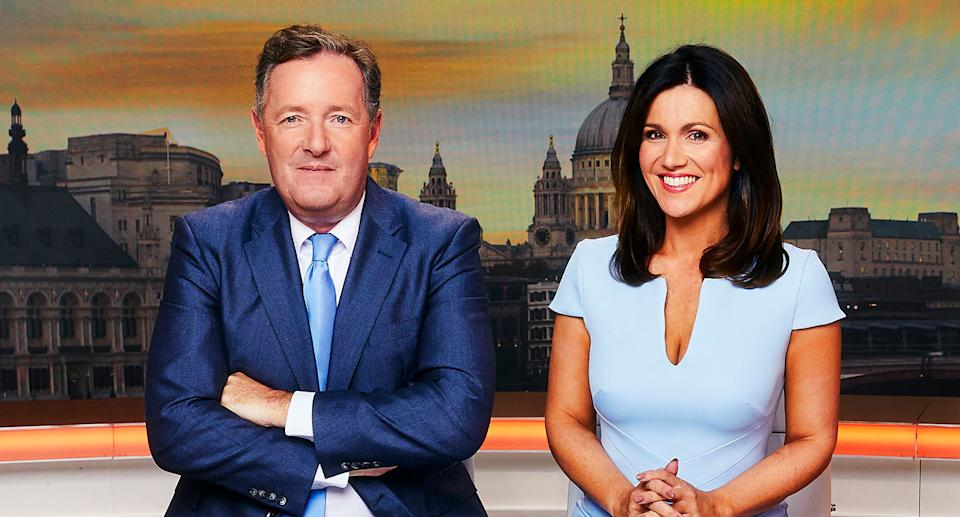 Piers Morgan and Susanna Reid on GMB. (ITV)