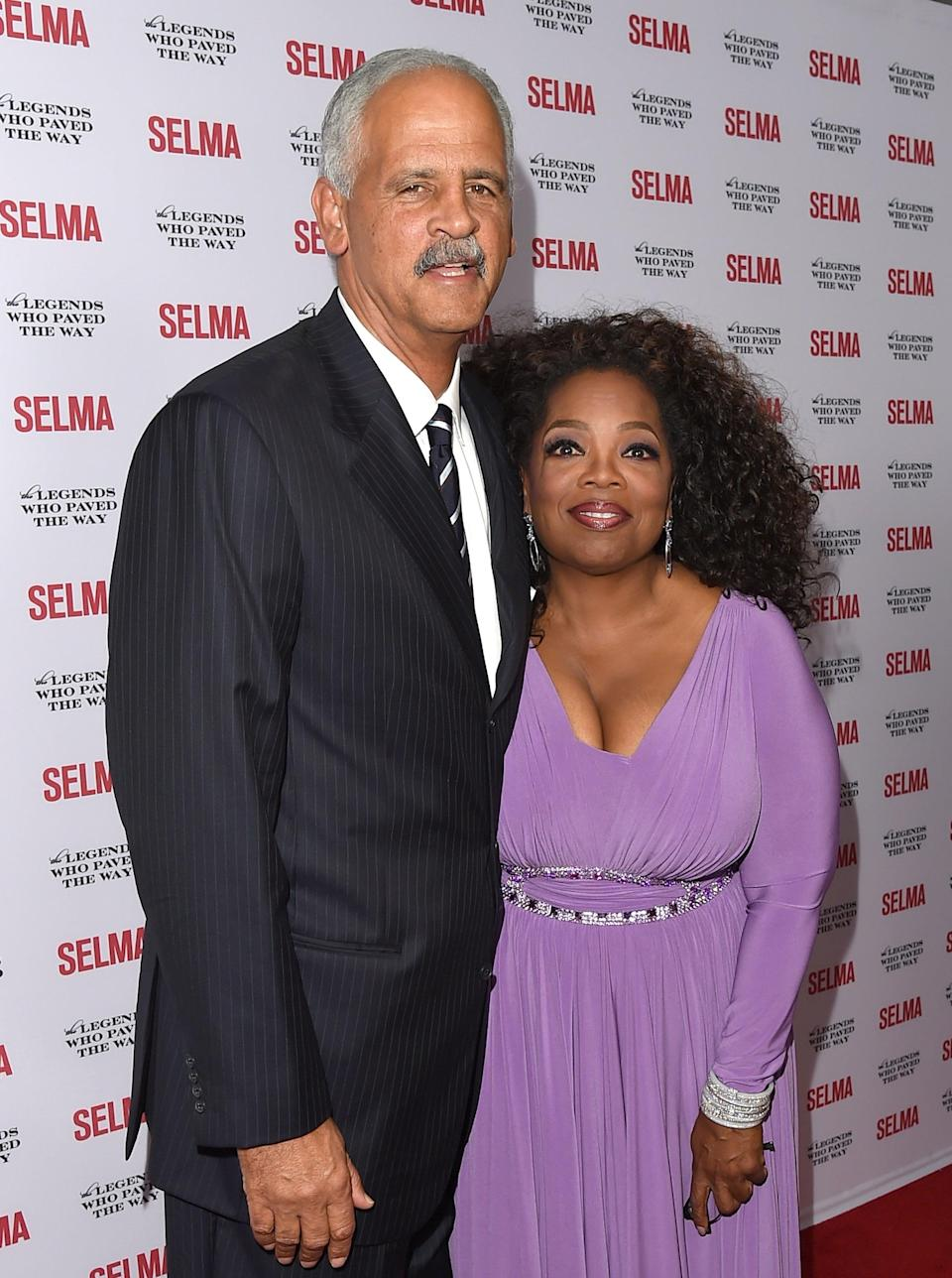 Hold Stedy: Oprah and life-long partner Stedman GrahamGetty Images