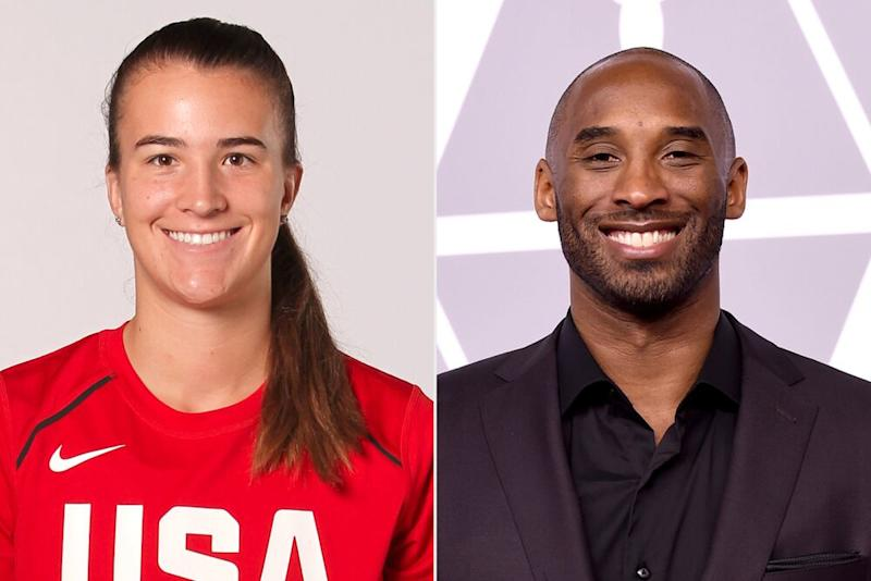 Sabrina Ionescu, Kobe Bryant | Travis Bell/NBAE via Getty Images; Kevin Winter/Getty Images