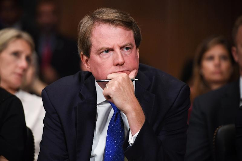 Democrats are demanding that former White House counsel Don McGahn testify in Congress about allegations that President Donald Trump illegally obstructed the Russia meddling ivnestigation (AFP Photo/SAUL LOEB)