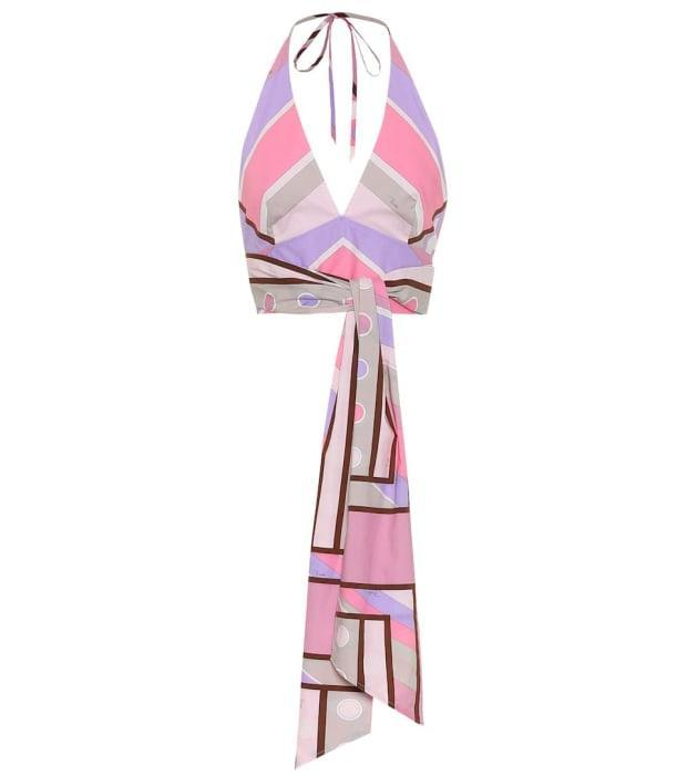 """<p>Emilio Pucci Printed Stretch-Cotton Halter-Neck Top, $500 (from $715), <a href=""""https://rstyle.me/+NC8ltfDonxTwL_ilggDBdw"""" rel=""""nofollow noopener"""" target=""""_blank"""" data-ylk=""""slk:available here"""" class=""""link rapid-noclick-resp"""">available here</a> (sizes US 2-12). </p>"""