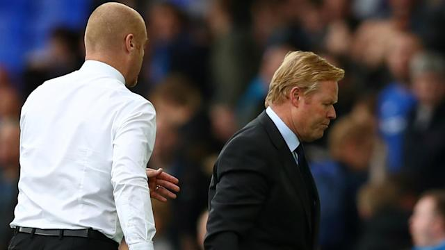 The pressure on Everton manager Ronald Koeman grew with defeat to Burnley, but he defended his players' effort.