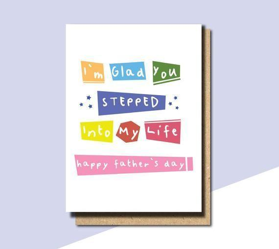 """<p><strong>WITHPUNS</strong></p><p>etsy.com</p><p><strong>$3.70</strong></p><p><a href=""""https://go.redirectingat.com?id=74968X1596630&url=https%3A%2F%2Fwww.etsy.com%2Flisting%2F602564303%2Ffathers-day-card-for-stepdad-fathers-day&sref=https%3A%2F%2Fwww.countryliving.com%2Flife%2Fg20688368%2Fstep-dad-fathers-day-gifts%2F"""" rel=""""nofollow noopener"""" target=""""_blank"""" data-ylk=""""slk:Shop Now"""" class=""""link rapid-noclick-resp"""">Shop Now</a></p><p>The sweetest way to give a personalized shout-out to your stepdad without even using the words """"stepdad,"""" this colorful card is the perfect gift idea.</p>"""