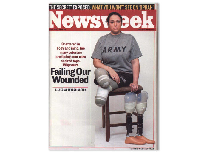 Army specialist Marissa Strock on the cover of the March 5, 2007 issue of Newsweek.