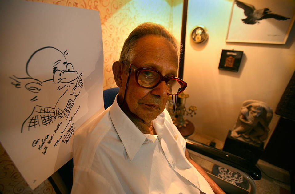 Indian cartoonist, illustrator, and humorist Rasipuram Krishnaswami Iyer Laxman was best known for his creation The Common Man and for his daily cartoon strip, 'You Said It' in The Times of India, which started in 1951. Among the awards that he won are the Padma Bhushan in 1973, Padma Vibhushan in 2005 and Ramon Magsaysay Award for Journalism, Literature and Creative Communication Arts in 1984.