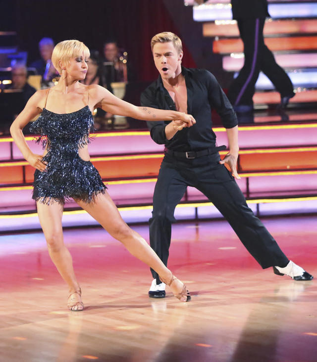 "Kellie Pickler and Derek Hough perform on ""Dancing With the Stars."""
