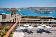 """<p>This modern boutique B&B is right by some of Valletta's most popular attractions, including the Upper Barrakka Gardens and Manoel Theatre, and features a beautiful roof terrace where you can eat breakfast while gazing out across the dreamy blue sea. </p><p>Original artworks from <a href=""""https://go.redirectingat.com?id=127X1599956&url=https%3A%2F%2Fwww.booking.com%2Fhotel%2Fmt%2Fursulino-valletta.en-gb.html%3Faid%3D1922306%26label%3Dmalta-hotels&sref=https%3A%2F%2Fwww.goodhousekeeping.com%2Fuk%2Flifestyle%2Ftravel%2Fg37028393%2Fmalta-hotels%2F"""" rel=""""nofollow noopener"""" target=""""_blank"""" data-ylk=""""slk:Ursulino Valletta"""" class=""""link rapid-noclick-resp"""">Ursulino Valletta</a>'s private collection hang on the walls, and the gorgeous contemporary suites come with a plush living area and mezzanine sleeping quarters.</p><p><a class=""""link rapid-noclick-resp"""" href=""""https://go.redirectingat.com?id=127X1599956&url=https%3A%2F%2Fwww.booking.com%2Fhotel%2Fmt%2Fursulino-valletta.en-gb.html%3Faid%3D1922306%26label%3Dmalta-hotels&sref=https%3A%2F%2Fwww.goodhousekeeping.com%2Fuk%2Flifestyle%2Ftravel%2Fg37028393%2Fmalta-hotels%2F"""" rel=""""nofollow noopener"""" target=""""_blank"""" data-ylk=""""slk:CHECK AVAILABILITY"""">CHECK AVAILABILITY</a></p>"""