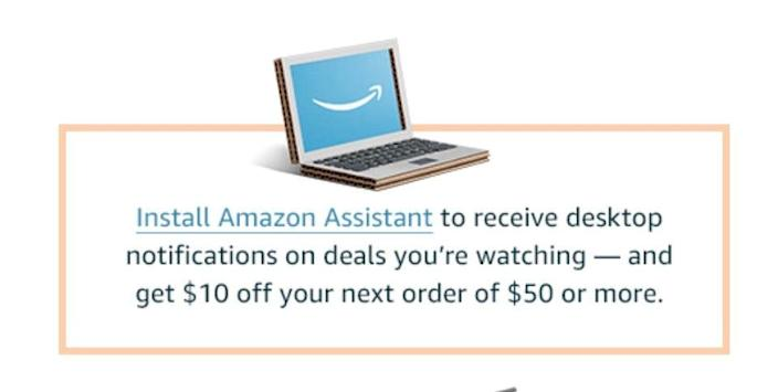 Amazon will pay you $10 to download browser extension