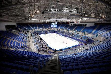 The Gangneung Ice Arena is seen in Gangneung