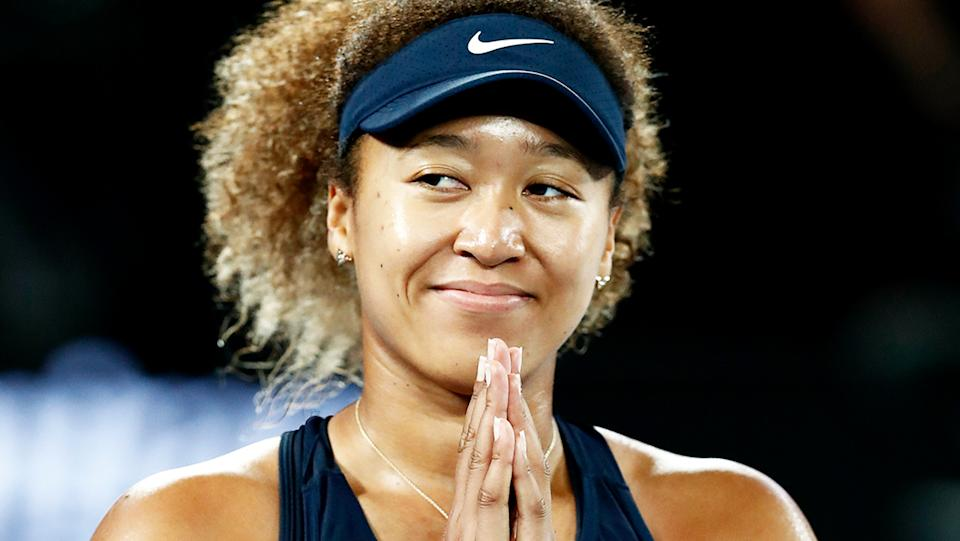 Naomi Osaka (pictured) celebrating after a win at the Australian Open.