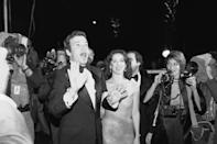 """William Shatner, who stars Captain Kirk, commander of the starship U.S.S. Enterprise in the movie """"Star Trek"""" arrives the world premier of the show on Thursday, Dec. 6, 1979 at the McArthur Theater in Washington. The lady with Shatner is unidentified. (AP Photo/Cook)"""