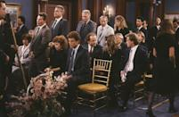 <p><strong><em>Cheers </em><br><br></strong>This top-rated sitcom was set in a bar in Boston where everyone knew your name and starred Ted Danson, Kelsey Grammer, and a young Woody Harrelson. </p>