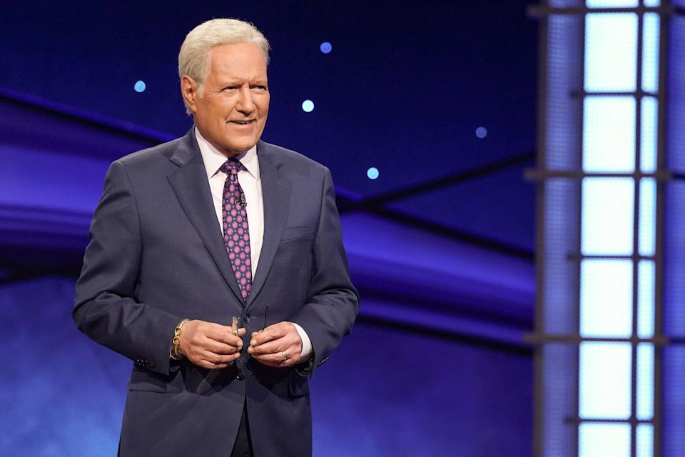 "Alex Trebek hosting ""Jeopardy.""  (Photo: Eric McCandless via Getty Images)"