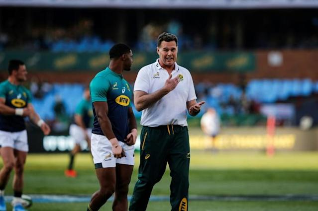 Rassie Erasmus was appointed South Africa head coach in March 2018 following the sacking of Allister Coetzee (AFP Photo/MARCO LONGARI)