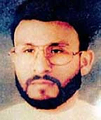 This undated file photo provided by U.S. Central Command, shows Abu Zubaydah, date and location unknown. Zubaydah was the CIA's guinea pig. He was the first high-profile al Qaida terror suspect captured after the Sept. 11 attacks and the first to vanish into the spy agency's secret prisons, the first subjected to grinding white noise and sleep deprivation tactics and the first to gasp under the simulated drowning of waterboarding. Zubaydah's stark ordeal became the CIA's blueprint for the brutal treatment of terror suspects, according to the Senate Intelligence Committee's report released Tuesday. (AP Photo/U.S. Central Command, File)