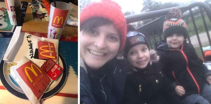 Danielle Culley, 33, prepared the surprise dinner for her son, Oscar, four, and daughter Lily, six (Picture: Mercury)