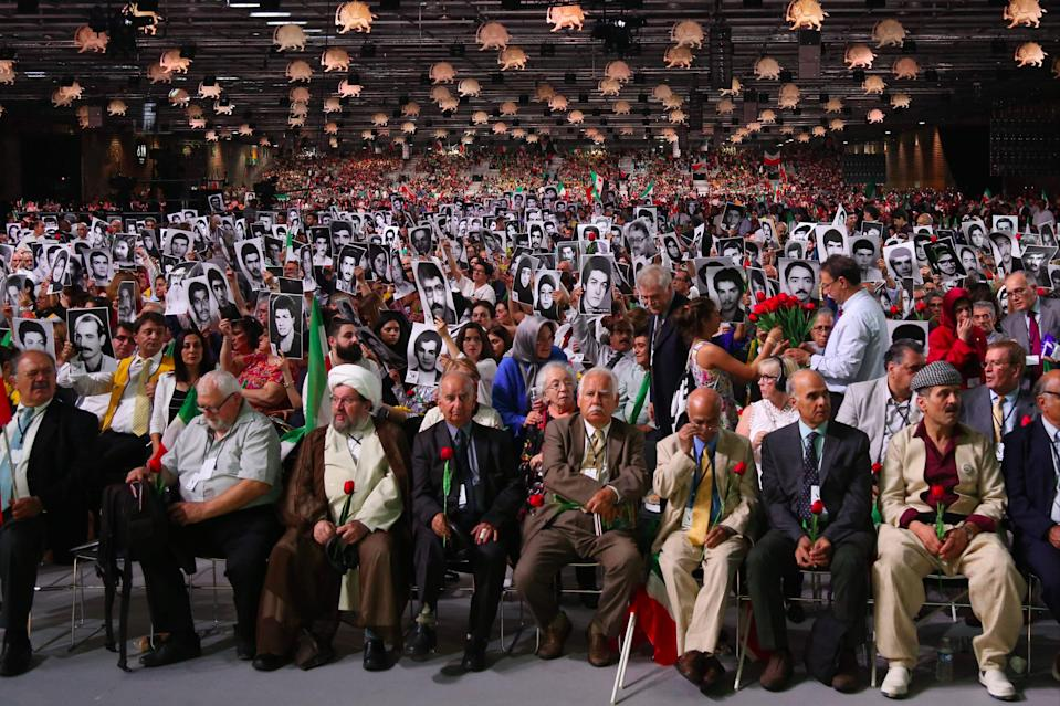 <p>The alleged target was a rally by an exiled Iranian opposition group in Villepinte, near Paris</p> (AFP via Getty Images)