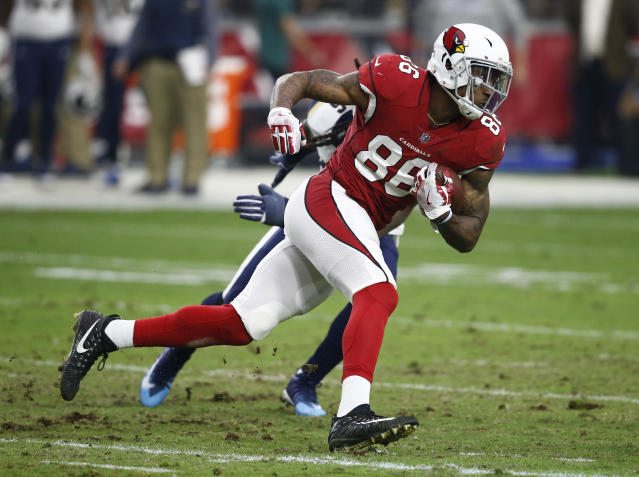 "Tight end <a class=""link rapid-noclick-resp"" href=""/nfl/players/30494/"" data-ylk=""slk:Ricky Seals-Jones"">Ricky Seals-Jones</a> is reportedly the latest Arizona Cardinal to be arrested for an incident allegedly linked to being intoxicated. (AP)"