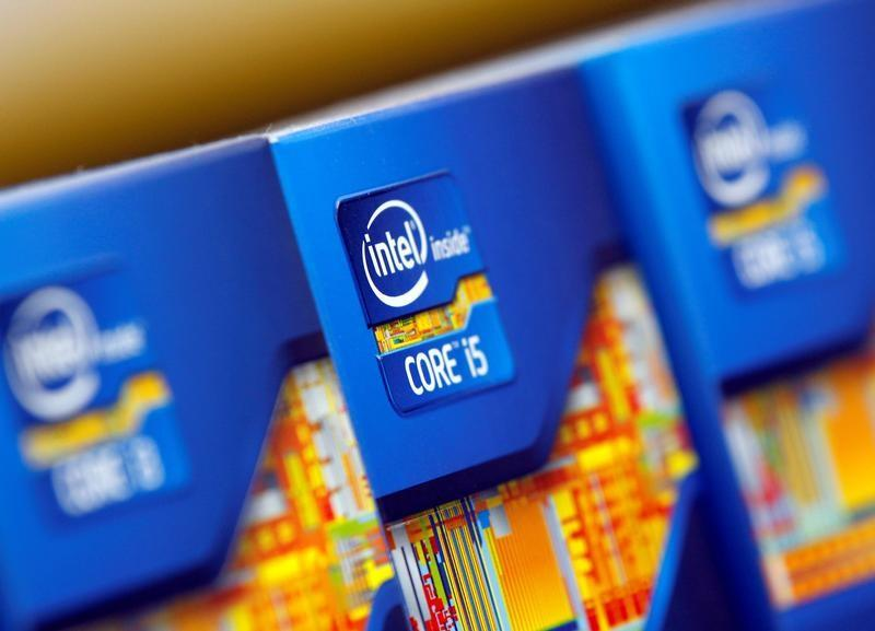 FILE PHOTO - Intel processors are displayed at a store in Seoul