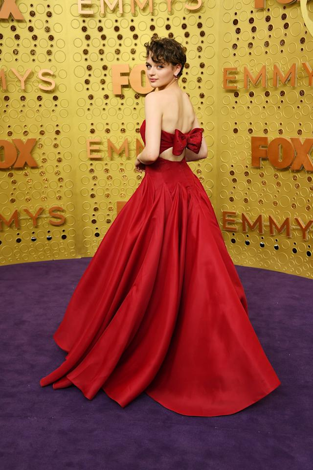"""<p>Most recently, <a href=""""https://www.popsugar.com/fashion/joey-king-dress-at-emmys-2019-46663902"""" class=""""ga-track"""" data-ga-category=""""Related"""" data-ga-label=""""https://www.popsugar.com/fashion/joey-king-dress-at-emmys-2019-46663902"""" data-ga-action=""""In-Line Links"""">Joey King stunned in this Zac Posen dress at the 2019 Emmy Awards</a>.</p>"""