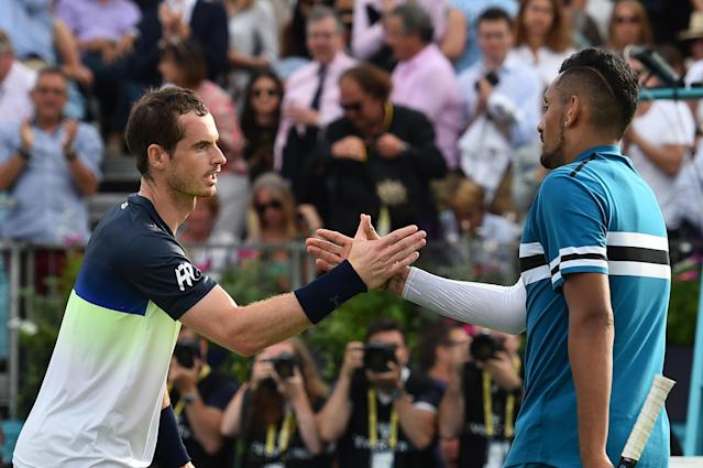 In Nick Kyrgios eyes, Andy Murray is better than current top-ranked tennis player Novak Djokovic. (Glyn Kirk/AFP/Getty Images)