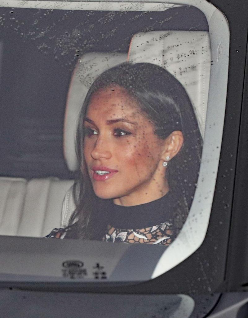 Meghan Markle made her way into Buckingham Palace for the annual Christmas lunch. Photo: Getty Images