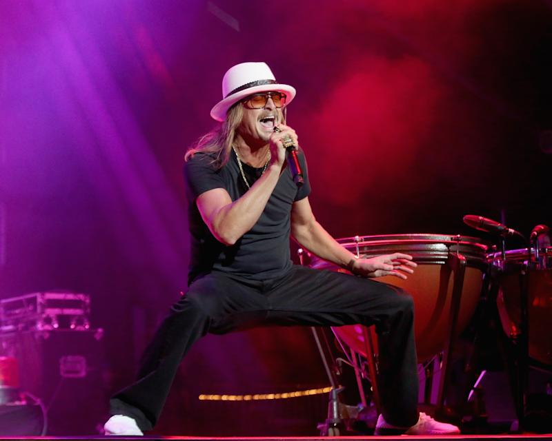 ARLINGTON, TEXAS - MAY 11: Kid Rock performs in concert during day two of KAABOO Texas at AT&T Stadium on May 11, 2019 in Arlington, Texas. (Photo by Gary Miller/Getty Images)