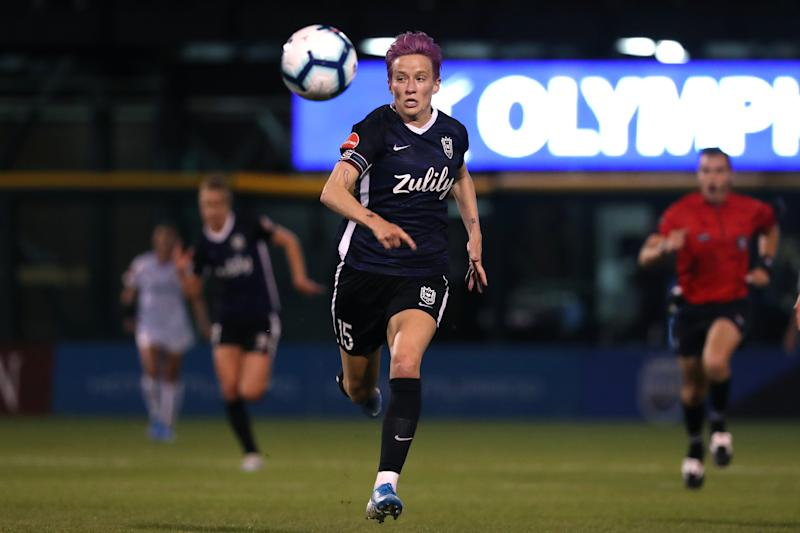 Reign FC, which features USWNT star Megan Rapinoe, could soon be under the same ownership as European powerhouse Lyon. (Abbie Parr/Getty Images)