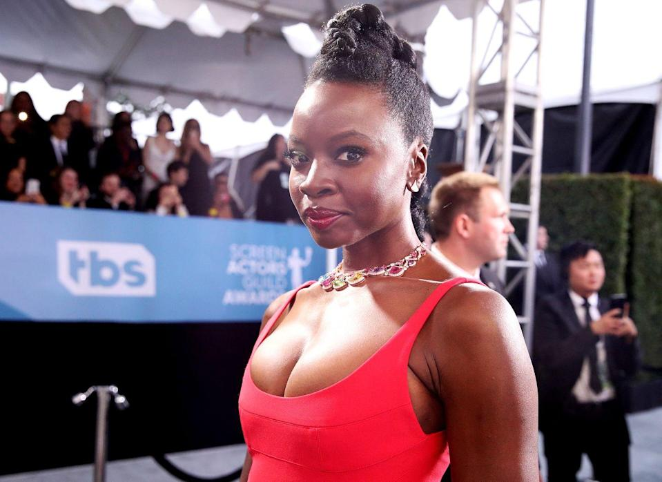 <p>Show off your facial features with a braided mohawk style just like actress <strong>Danai Gurira</strong>! This is a great protective style for transitioning hair as your hair is pulled up and braided. </p>