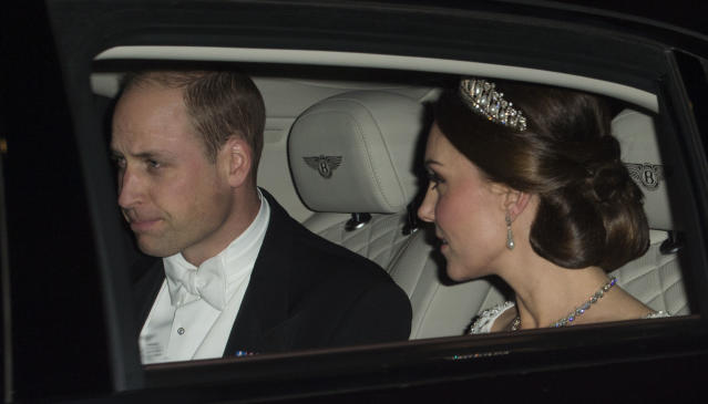 Prince William accompanied his pregnant wife. (Photo: Getty Images)