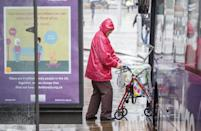 Nottingham was lashed with heavy rain, as the Met Office issued warnings for the weekend that haven't been seen since March. (PA)