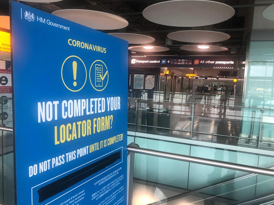Test failure: the transport secretary, Grant Shapps, says testing for coronavirus on arrival at airports such as Heathrow would not work (Simon Calder)
