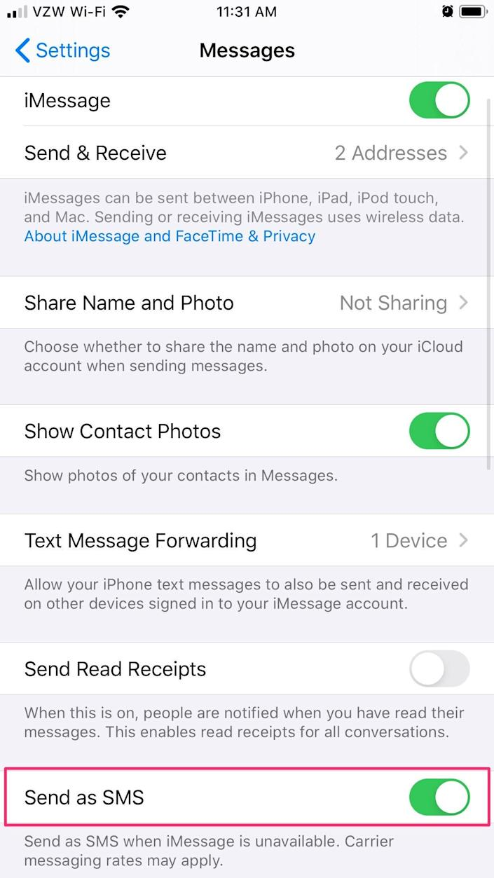 Why is my iPhone not sending messages