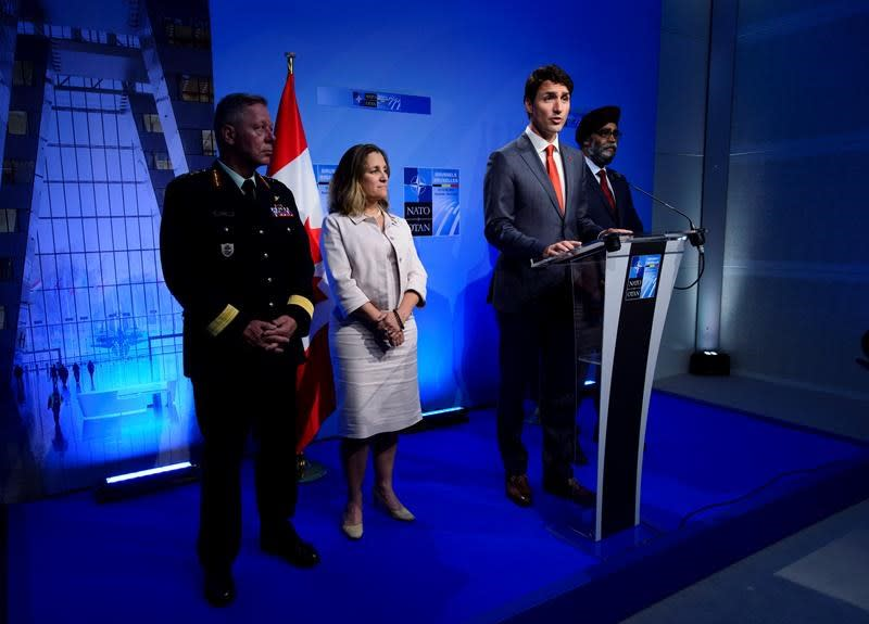 Trudeau touts 2017 defence plan as answer to Trump's call for NATO spending