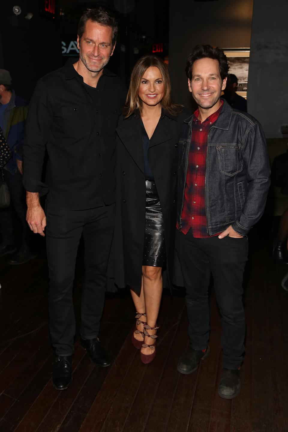 Peter Hermann and Mariska Hargitay joined Paul Rudd at his seventh annual Paul Rudd All-Star Bowling Benefit for the Stuttering Association for the Young (SAY) at Lucky Strike Manhattan on Nov. 5. (Photo: Manny Carabel/Getty Images)