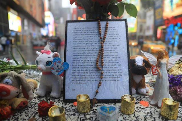 The letter from Thomas Elsman, father of the 18-year-old Times Square car crash victim, Alyssa. (Photo: Gordon Donovan/Yahoo News)