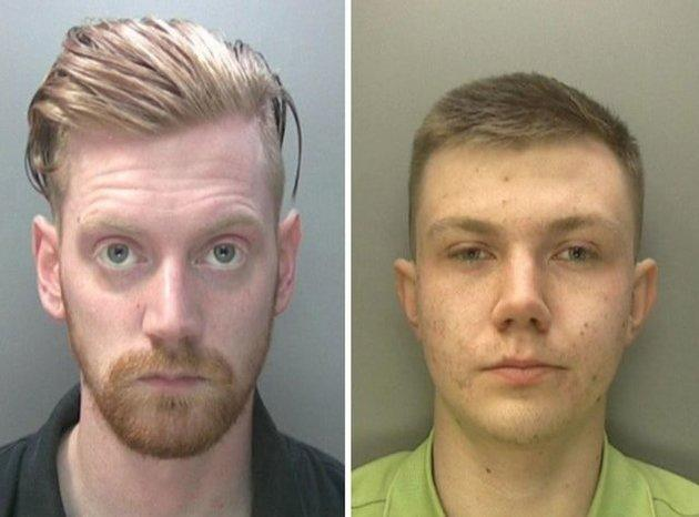 Chad Williams-Allen and Garry Jack were both convicted, along with two other men, of inciting racial hatred after plastering offensive stickers across Aston University campus signs in Birmingham in 2016.