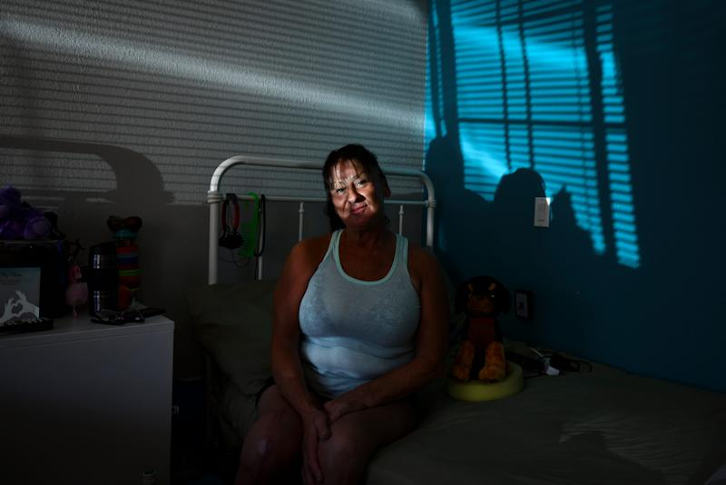 Yolanda Etter lived under a palm tree in San Pedro before having knee replacement surgery and being given the opportunity to live in the motel.