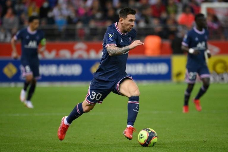 Lionel Messi could make his first start for PSG against Club Brugge in the Champions League (AFP/FRANCK FIFE)