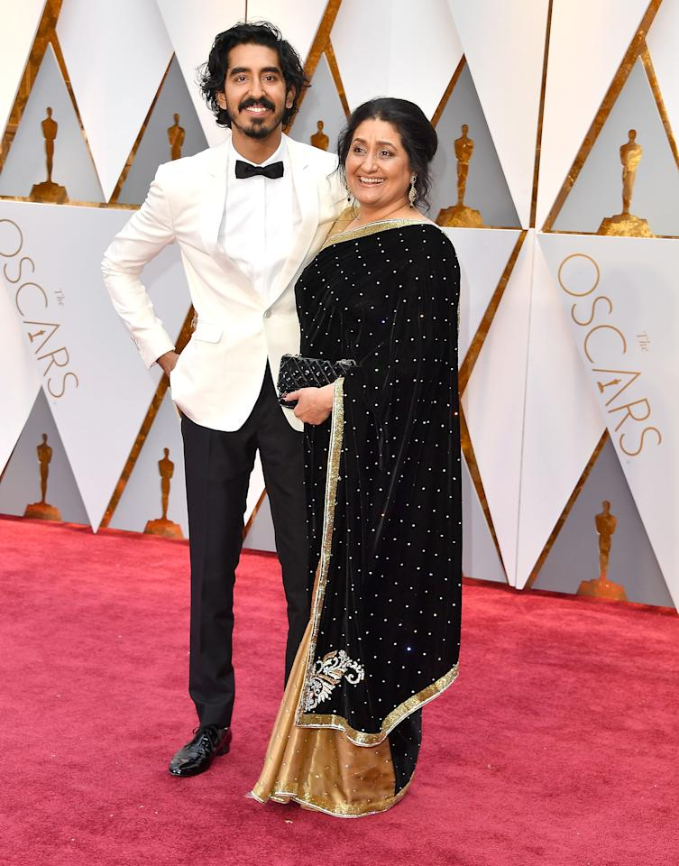 "<p>At this year's Academy Awards, ""Lion"" actor Dev Patel brought his mom Anita as his date. </p>"