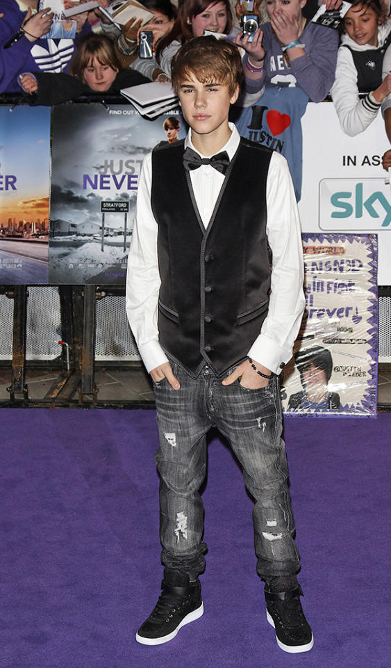 Purple Carpet arrivals at the UK premiere of 'Justin Bieber: Never Say Never 3D' at the O2 Arena on 16 February, 2011.