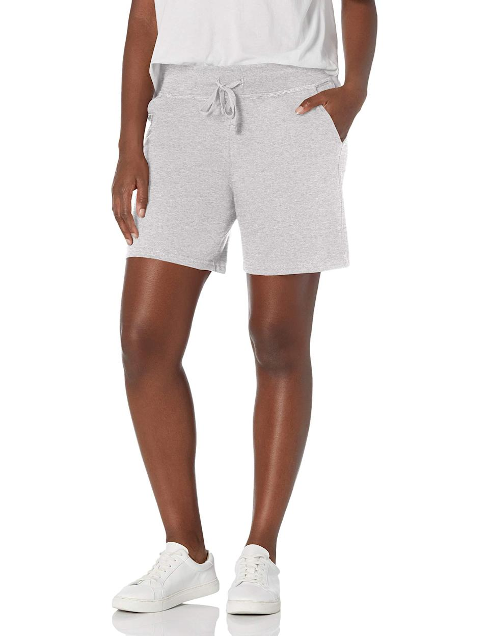 """<h2>Hanes</h2><br><br><strong>Hanes</strong> Jersey Short, $, available at <a href=""""https://amzn.to/2Pau0wA"""" rel=""""nofollow noopener"""" target=""""_blank"""" data-ylk=""""slk:Amazon"""" class=""""link rapid-noclick-resp"""">Amazon</a>"""