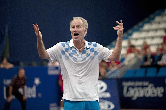 US tennis legend John McEnroe is currently on tour to promote his new book 'But Seriously' (AFP Photo/BERTRAND LANGLOIS)