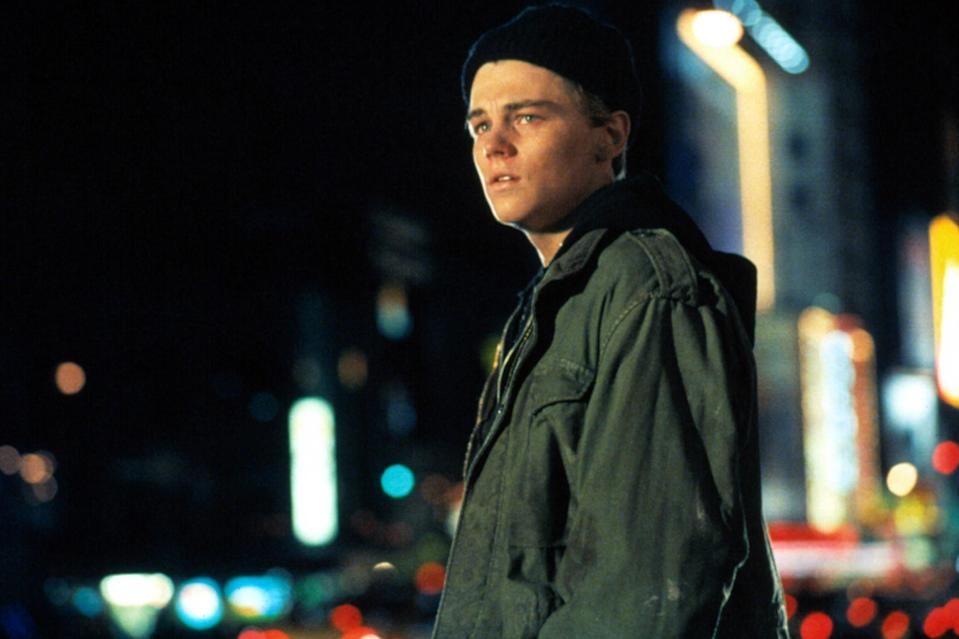 """<p>Playing a drug addict is a balancing act, and can often go bad in the wrong hands. Obviously few hands are more capable than DiCaprio, but even he is guilty of overacting in this autobiographical film about writer Jim Carroll. And while both his performance and <a href=""""https://ew.com/creative-work/the-basketball-diaries/"""" rel=""""nofollow noopener"""" target=""""_blank"""" data-ylk=""""slk:The Basketball Diaries"""" class=""""link rapid-noclick-resp""""><i>The Basketball Diaries</i></a> often feel like too much, he still finds a way to bring home the heartbreak, particularly in a scene where he goes from begging his mom for money to unloading on her to breaking down. </p> <p><b>Related: </b><a href=""""https://ew.com/article/1995/05/05/basketball-diaries-film-version-hoops-and-heroin-memoir-jim-carroll/"""" rel=""""nofollow noopener"""" target=""""_blank"""" data-ylk=""""slk:The Basketball Diaries: A film version of the hoops-and-heroin memoir of Jim Carroll"""" class=""""link rapid-noclick-resp""""><i>The Basketball Diaries</i>: A film version of the hoops-and-heroin memoir of Jim Carroll</a></p>"""