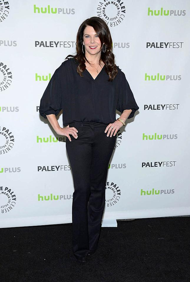 "Lauren Graham attends the 30th annual PaleyFest featuring the cast of ""Parenthood"" at the Saban Theatre on March 7, 2013 in Beverly Hills, California."