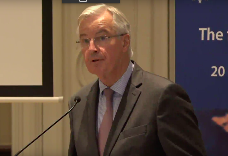 Michel Barnier speaking at the Centre for European Reform in Brussels (CER)