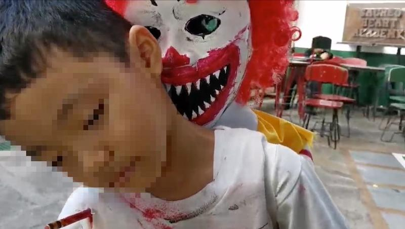 Mcdonalds Halloween 2020 Philippines Kid's horrifying Ronald McDonald inspired Halloween costume